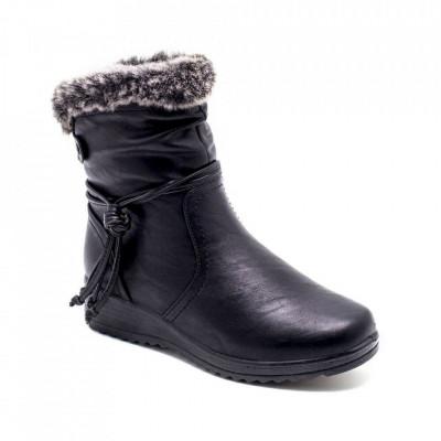 Ženske poluduboke čizme LH050208 crne