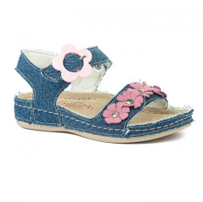 Anatomske sandale za devojčice 415 teksas