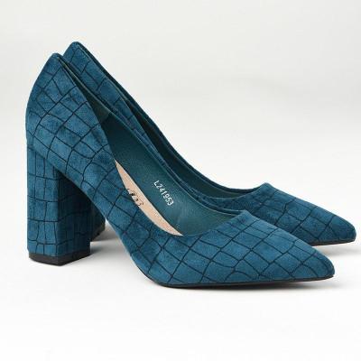 Cipele na štiklu L241953 petrolej