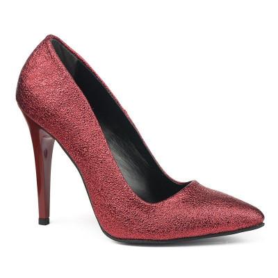 Cipele na štiklu sa šljokicama 5010 crvene