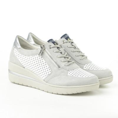 Cipele/patike P302 belo srebrne