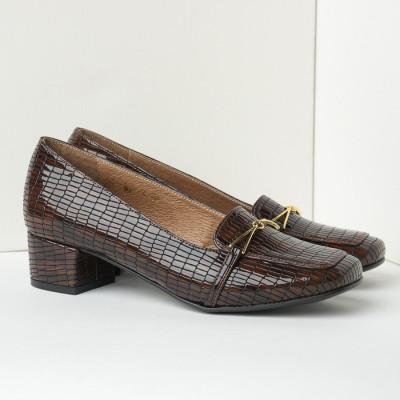 Cipele sa kožnom postavom B4 braon