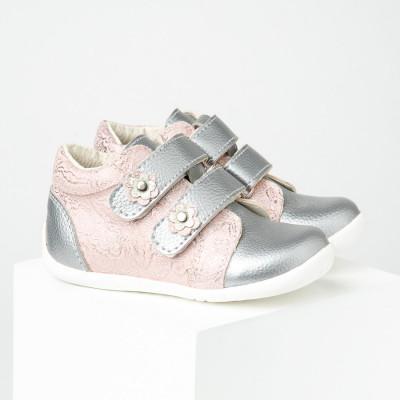 Dečije cipele sa anatomskim uloškom S02 srebrno-roze