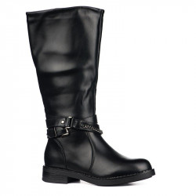 Duboke ženske čizme LX191825 crne