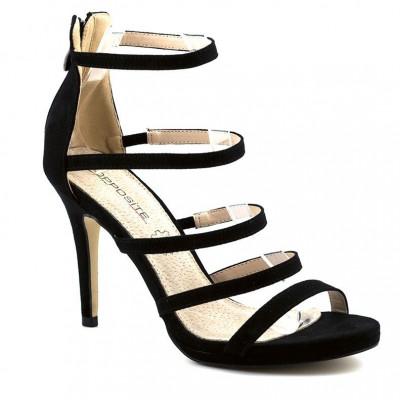 Elegantne sandale na štiklu LS80720 crne