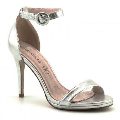 Elegantne sandale na štiklu LS80723 srebrne