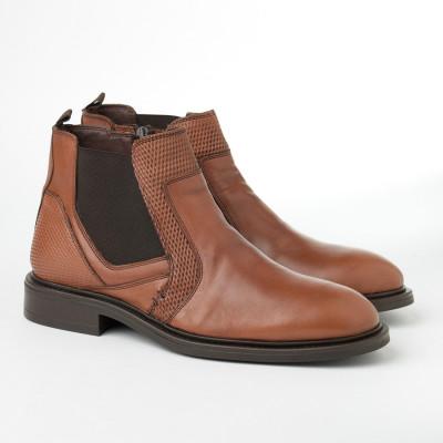 Kožne muške cipele 2385 kamel