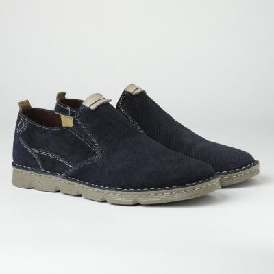 Kožne muške cipele/mokasine 2819 teget