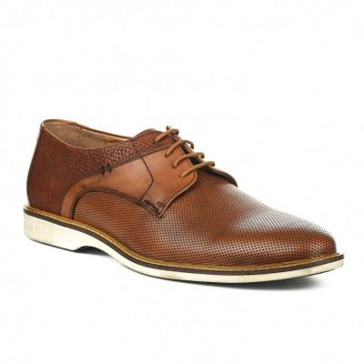 Kožne muške cipele P27951 kamel