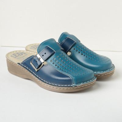 Kožne papuče 671 plave