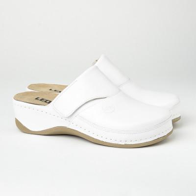 Kožne papuče/klompe 2019 bele