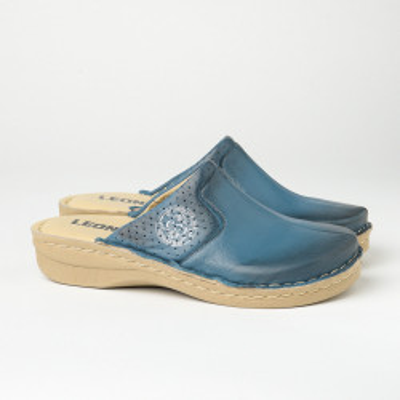 Kožne papuče/klompe 360 teget