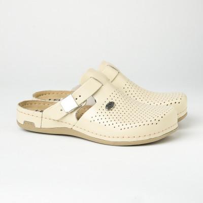 Kožne papuče/klompe 950 bež