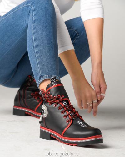 Kožne poluduboke čizme A1-10 crne