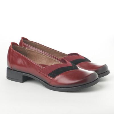Kožne ženske cipele L-127/4 bordo