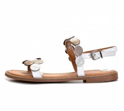 Ravne sandale LS211901 bele
