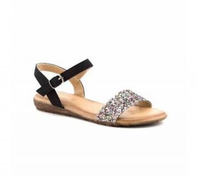 Ravne sandale LS80827-1 crne