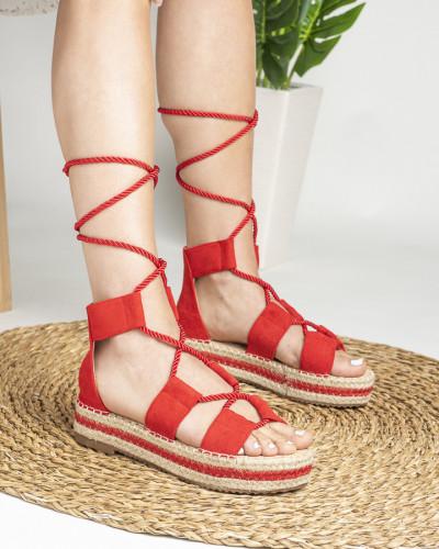 Sandale na debelom djonu LS020123 crvene