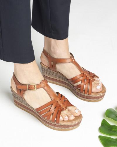 Sandale na debelom đonu S404 kamel