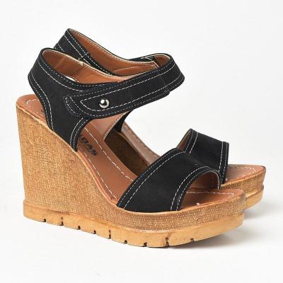 Sandale na platformu 1035 crne