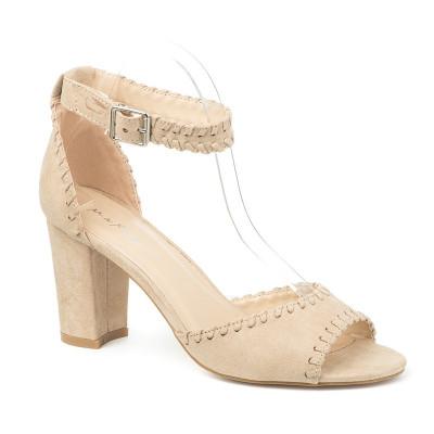 Sandale na štiklu 3602-13 bež