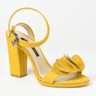 Sandale na štiklu 7467 žute