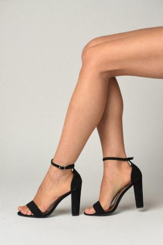 Sandale na štiklu 8158-B550 crne