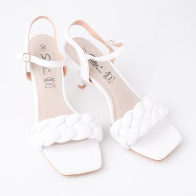 Sandale na štiklu LS042100 bele