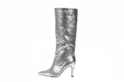 Ženske čizme na štiklu LX562026 srebrne