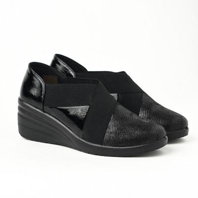 Ženske lakovane cipele L081932 crne