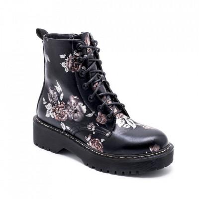 Ženske poluduboke čizme LH051550 crne
