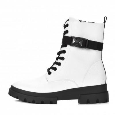 Ženske poluduboke čizme LH212022 bele