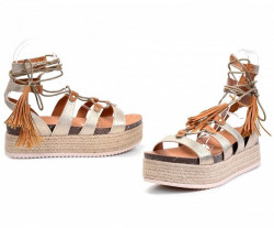 Ženske sandale LS791901 zlatne