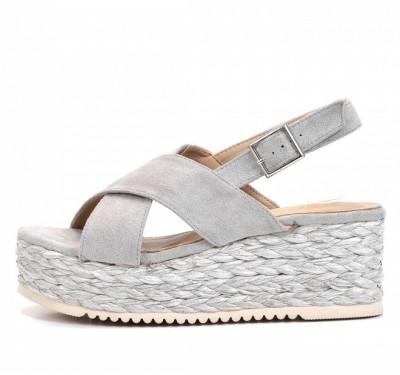 Ženske sandale na debelom djonu LS021932 sive