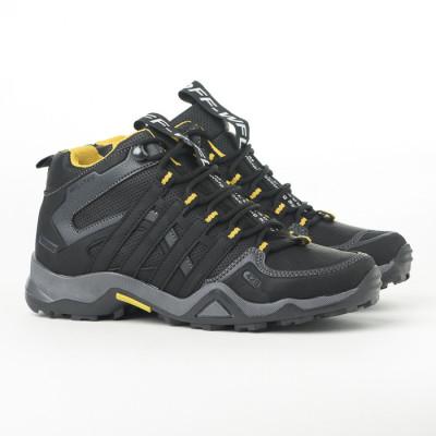 Zimske duboke cipele / patike 3014 crne sa žutim detaljima (brojevi od 36 do 44)