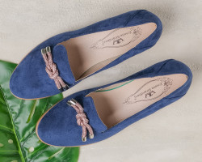 Cipele na malu petu C2118 teget