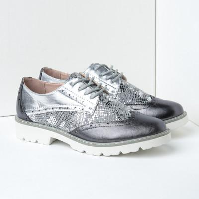 Cipele oksfordice C2110 crno srebrne