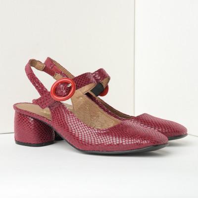 Cipele sandale sa kožnom postavom N-132 bordo