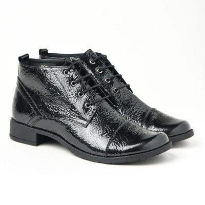 Kožne duboke cipele 2-901 crne
