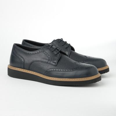 Kožne muške cipele 2019-3 teget