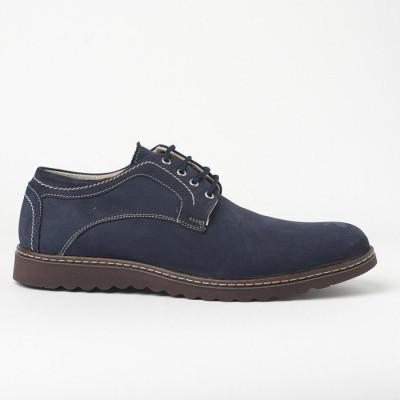 Kožne muške cipele 7013-017 teget