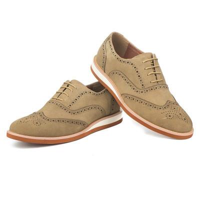 Kožne muške cipele K01A13-11 bež