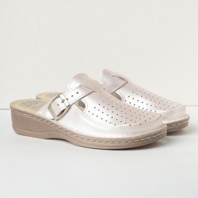 Kožne papuče 635 sedef