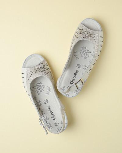 Kožne ravne sandale 2051 bele
