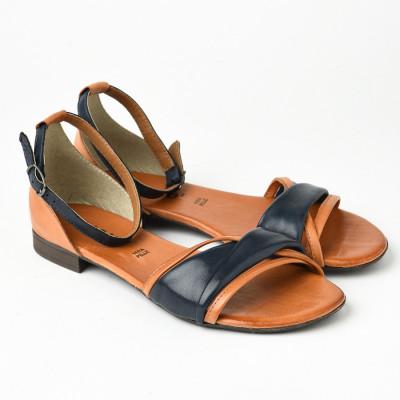 Kožne ravne sandale 225170 teget