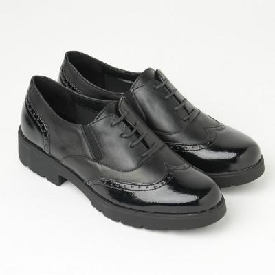 Kožne ženske cipele 633010 crne