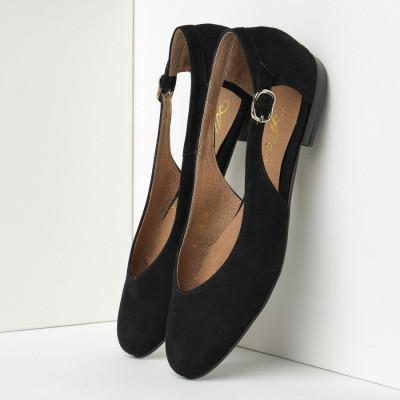 Kožne ženske cipele-baletanke B28 crne