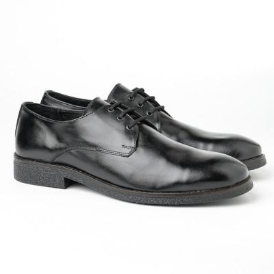 Muške kožne cipele Gazela 3131-01 crne
