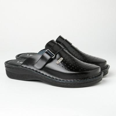 Muške kožne papuče/klompe V230 crne