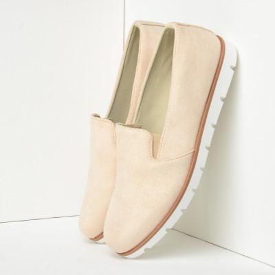 Ravne cipele/mokasine C335 bež